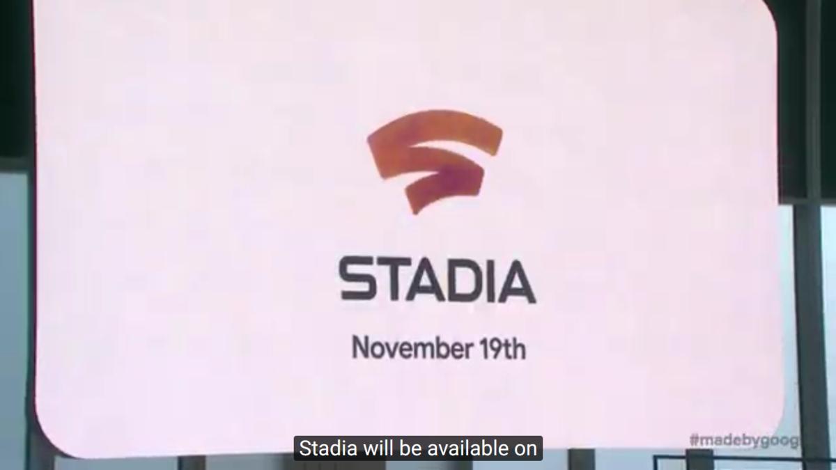 Tampilan presentasi Google Stadia. Google Stadia akan hadir tak lama lagi, yakni pada 19 November mendatang.