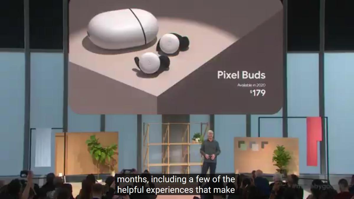 Tampilan dari Pixel Buds.